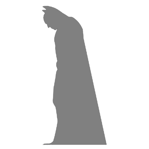 Art Project Paint Reusable Stencil Silhouette - Batman Joker Dark Knight