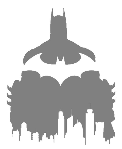 DIY Art Project Paint Reusable Stencil Silhouette - Batman Bat Symbol Gotham