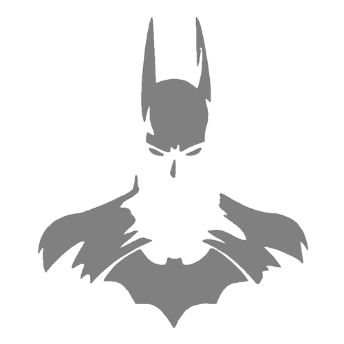 DIY Art Project Paint Reusable Stencil Silhouette - Batman Joker Harley Cowl