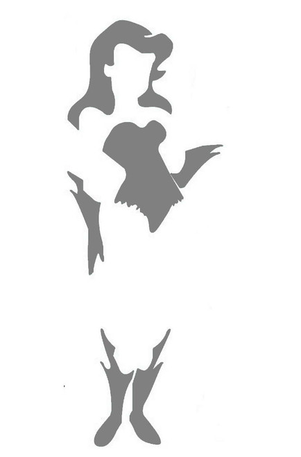 DIY Art Project Paint Reusable Stencil Silhouette - Batman Villian Poison Ivy