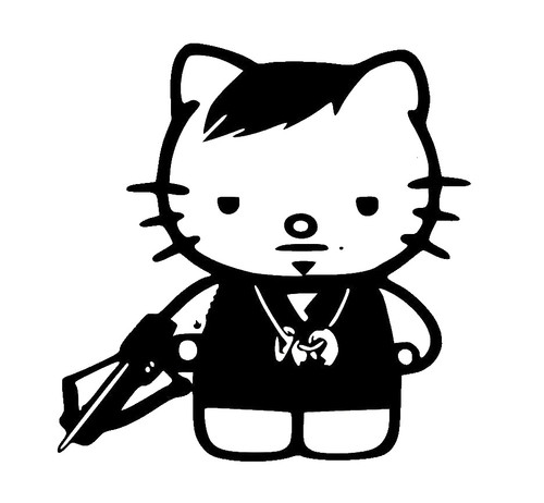 Hello Kitty Walking Dead Daryl Dixon