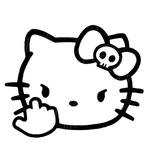 Hello Kitty F You Flip Off