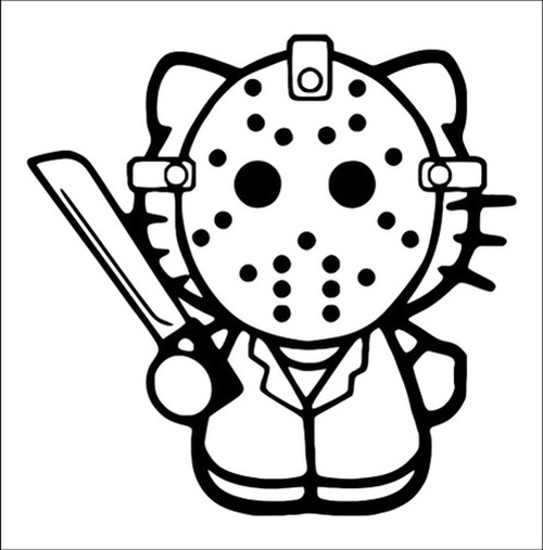 Hello Kitty Jason Voorhees Friday The 13th