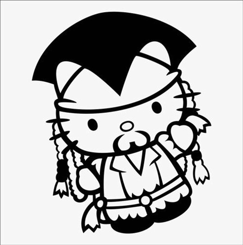Hello Kitty Jack Sparrow Pirates Of The Caribbean