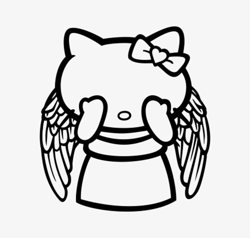Hello Kitty Dr. Who Weeping Angel