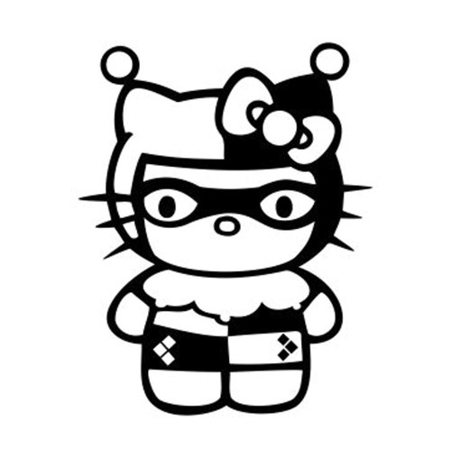Hello Kitty Batman Harley Quinn