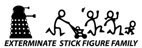 Doctor Who Exterminate Stick Figure Family