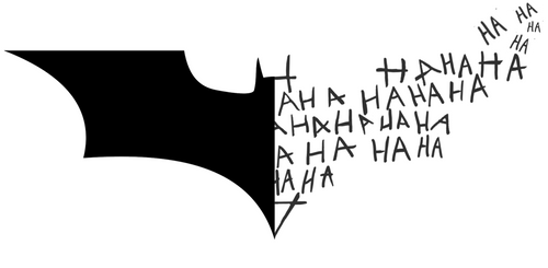 DC Batman Logo Symbol + Joker Laugh HA HA HA