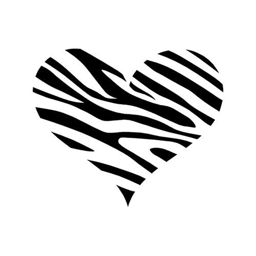 Zebra Print Heart Love