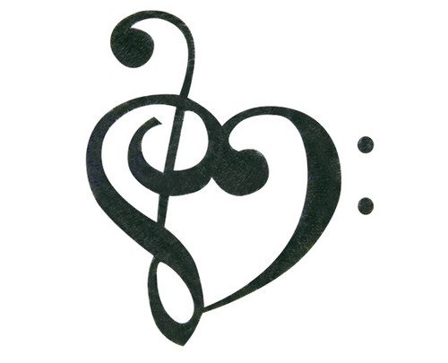 Music Note Heart Love