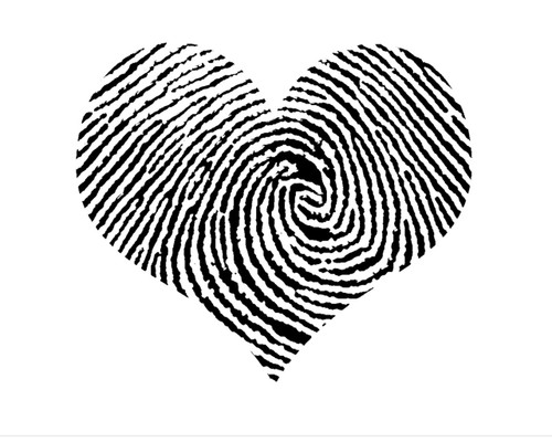 Fingerprint Heart Love