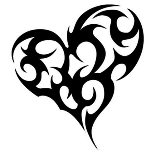Tribal Love Heart