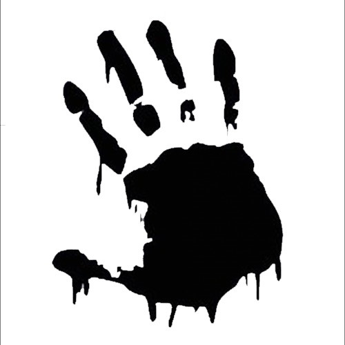 Horror Movies Zombie Bloody Handprint