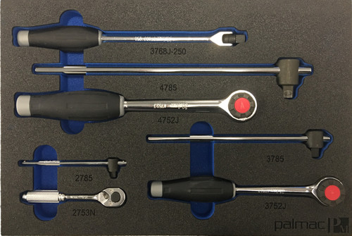 """Koken Ratchet and Driver set in Foam PM-HND-1011-00-F