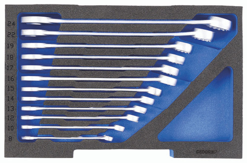 Gedore 2835908, Combination spanner set, in 1/2 L-BOXX 136 Module