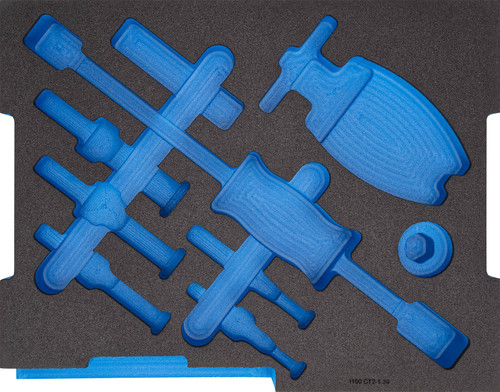 Gedore 2836033, Foam insert 2/2 L-BOXX 136, empty