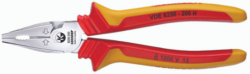 Gedore 1550969, VDE Heavy duty combination pliers with VDE insulating sleeves 200 mm