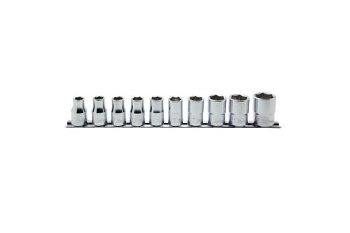 "Koken Rs4405A/10 | 10 Piece Socket Set: 1/2"" Sq. Dr. 12 Point Socket Set on Rail"