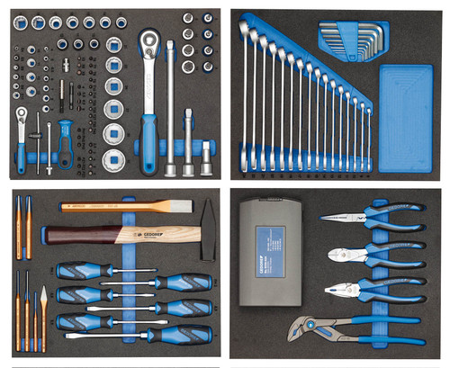 Gedore 2955997, Tool assortment in CT modules, 147 pieces