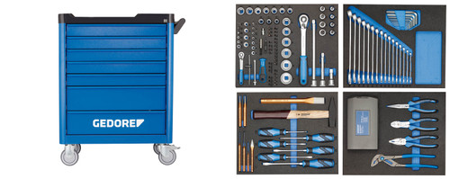 Gedore 2980312, Tool Trolley with assortment