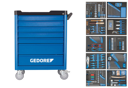 Gedore 2980347, Tool Trolley with assortment