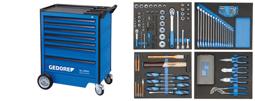 Gedore 2980282, Tool Trolley with assortment