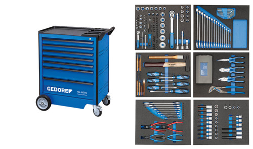 Gedore 2980290, Tool Trolley with assortment