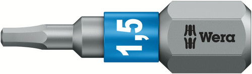 Wera 840/1 BTZ HEX-PLUS SW 1.5 X 25 MM BIT FOR HEX SOCKET SCREWS 05056680001
