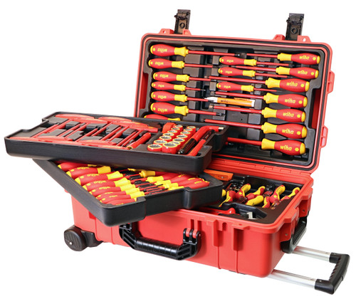Wiha 32800, Insulated 80 Pc Set In Rolling Tool Case