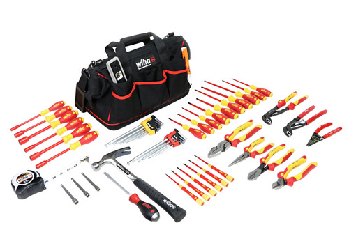 Wiha 32937, Insulated Master Electrician's Set 59Pc