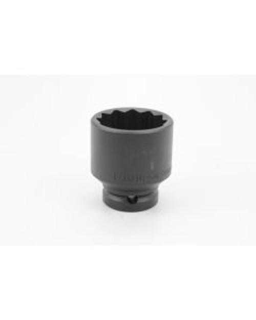 """SK Tools - 1-11/16"""" 3/4"""" Drive 12 Point Standard Fractional Thin Wall Impact Socket - 35454"""