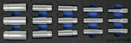 "Ko-ken Deep Socket Set in Foam PM-HND-1024-00-F | 3/8"" Deep Socket Set Metric"