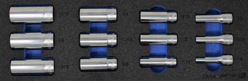 "Ko-ken Socket Set in Foam PM-HND-1025-00-F | 3/8"" Deep Socket Set SAE"