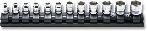"Koken Z-Series RS2400MZ/12 | 1/4"" Sq. Dr. Socket Set, (12 Pcs) on Magnetic Rail"