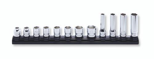 "Koken Z-series RS3X00MZ/12 | 3/8"" Sq. Dr. 12Pcs Socket Set on Magnetic Rail"