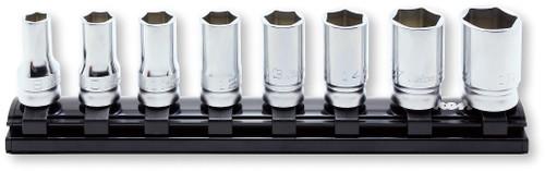 "Koken Z-series RS3300XZ/8 | 3/8"" Sq. Dr. Semi -deep Socket Set on Magnetic Rail"
