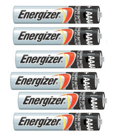 Maxxeon 6 Pack Energizer AAA Batteries, Shrink wrapped in 6's