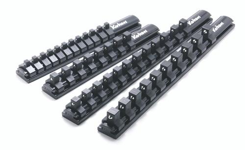 "Koken Z-series RSAL200-1/4X12 | 1/4"" Sq. Dr. Socket Set on Magnetic Rail/ Clip Set"
