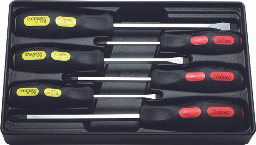 Koken PK166PS/6 |  Screwdrivers (Blade Through Type) Set