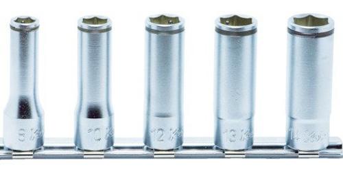 "KOKEN NUT GRIPPER RS3350M/5 | 3/8"" Square Drive | 6-Point - 5 Piece Nut Gripper Deep Socket Set"