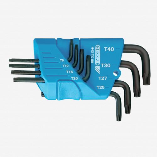 Gedore H 43 TX-88 Cranked socket key set 8 pcs TORX T9-T40