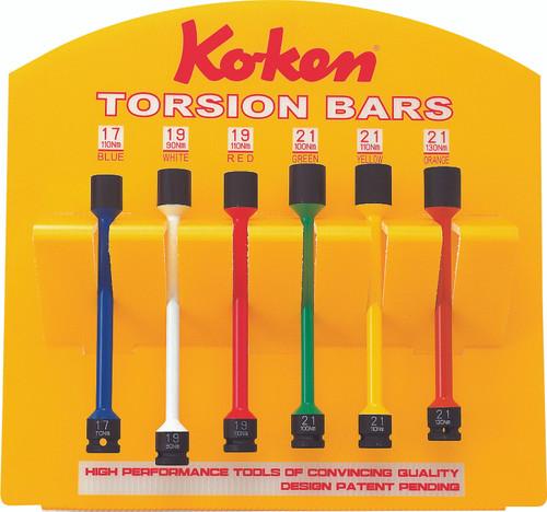 "Koken KP14101/6S   1/2"" Sq. Drive Torsion Bars Display Stand"