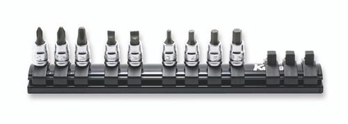 "Koken Z-Series RS20XXZ/9 | 1/4"" Sq. Drive Socket Set on Rail"