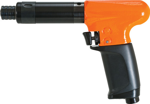 Cleco Pneumatic Pistol Grip Screwdriver, Push and Trigger Start - 19PCA03Q | Torque Range 0.4 - 2.1 ft.lbs