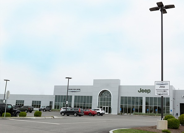 Jeep Chrysler Car Dealership features LightMart Lighting