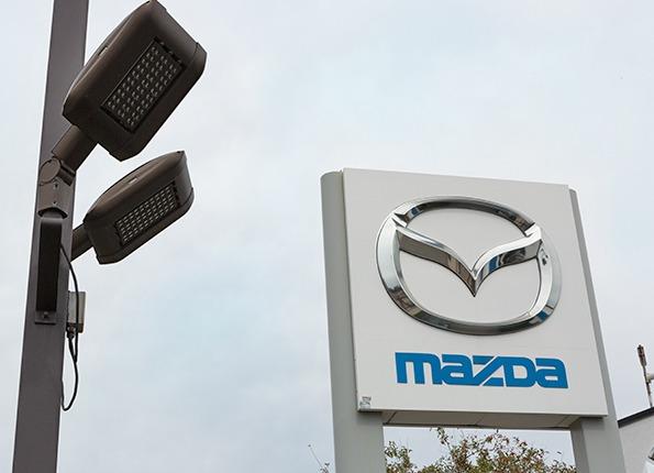 LightMart Lights at a Mazda Automobile Dealership