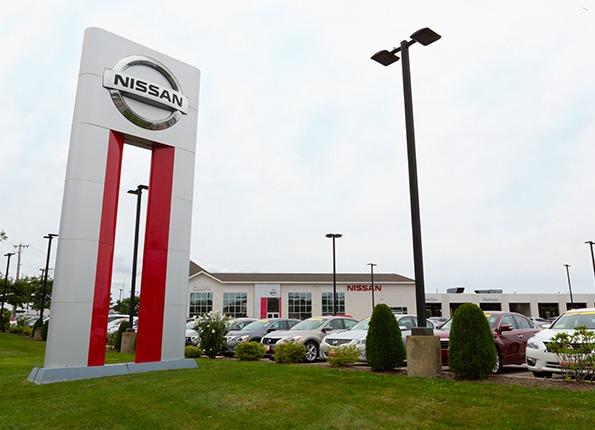 LightMart Poles and Lights at a Nissan Car Dealer