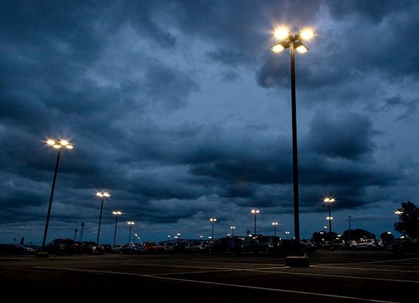 LightMart Pole Kits at Night