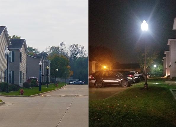 LightMart Acorn Decorative Light Pole Kits Light Up an Apartment Complex