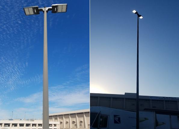 LightMart LED Light Pole Kit in USPS Parking Lot